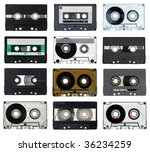 collection of vintage compact... | Shutterstock . vector #36234259