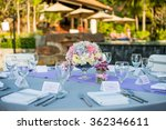 beach wedding setup | Shutterstock . vector #362346611