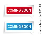 coming soon paper label vector | Shutterstock .eps vector #362349731