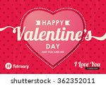 happy valentines day card ... | Shutterstock .eps vector #362352011