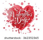 hand sketched valentine's day... | Shutterstock .eps vector #362352365