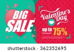 valentine's day big sale design ... | Shutterstock .eps vector #362352695