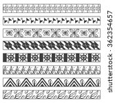 set of vector ornamental... | Shutterstock .eps vector #362354657