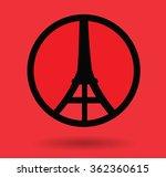 pray for paris | Shutterstock .eps vector #362360615