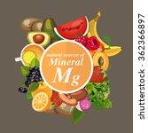 groups of healthy fruit ... | Shutterstock .eps vector #362366897