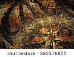abstract metal mosaic. fantasy...   Shutterstock . vector #362378855