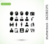 business man icons | Shutterstock .eps vector #362382191