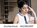 Portrait Of Young Sad  Woman ...