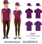 set of templates color polo... | Shutterstock .eps vector #362385815
