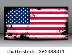 american flag with grunge... | Shutterstock .eps vector #362388311