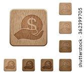 set of carved wooden save money ...