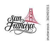 San Francisco Lettering. Vector ...