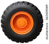 The Orange Wheel Tractor...