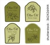set of lables for olive oil  | Shutterstock .eps vector #362426444