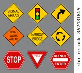 set of road signs.  | Shutterstock .eps vector #362431859