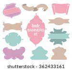 cute doodle frames and banners... | Shutterstock .eps vector #362433161