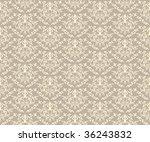 abstract seamless damask... | Shutterstock . vector #36243832