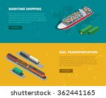 logistic concept flat banners... | Shutterstock .eps vector #362441165