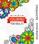 adult coloring book design for