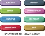 website button set   vector...