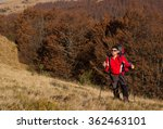 hiker hiking in the mountains... | Shutterstock . vector #362463101