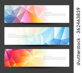 a set of modern vector banners... | Shutterstock .eps vector #362463839