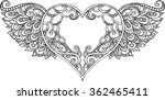 Hand Drawn Doodle Ornate Heart...
