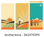 nature landscape banners with... | Shutterstock .eps vector #362470394