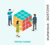 strategic planning  teamwork... | Shutterstock .eps vector #362472545