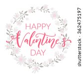 happy valentines day card with... | Shutterstock .eps vector #362475197