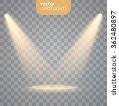 vector spotlights. scene. light ... | Shutterstock .eps vector #362480897