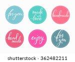 handmade sticker lettering set. ... | Shutterstock .eps vector #362482211