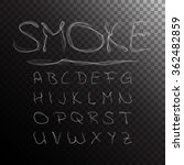 smoke alphabet  font  abc on... | Shutterstock .eps vector #362482859