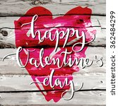 valentines day card template... | Shutterstock .eps vector #362484299