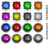 set of drag glossy web buttons. ...