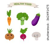 healthy food.healthy food for a ... | Shutterstock .eps vector #362491475