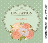 vector invitation card with... | Shutterstock .eps vector #362495009