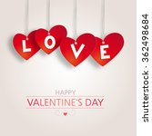valentine's background with red ... | Shutterstock .eps vector #362498684