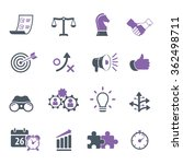 strategy and business icon set | Shutterstock .eps vector #362498711