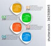 vector abstract 3d paper... | Shutterstock .eps vector #362508845