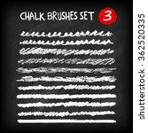 set of hand drawn chalk brushes.... | Shutterstock .eps vector #362520335