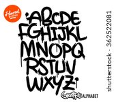 handwritten graffiti font | Shutterstock .eps vector #362522081