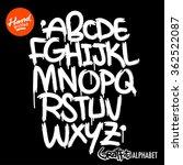 handwritten graffiti font   Shutterstock .eps vector #362522087