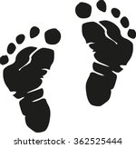 baby feet realistic | Shutterstock .eps vector #362525444