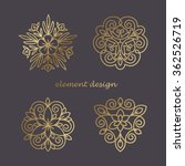set of vector elements in style ... | Shutterstock .eps vector #362526719