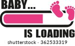 baby girl is loading with... | Shutterstock .eps vector #362533319