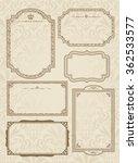 decorative gold frame set...   Shutterstock .eps vector #362533577