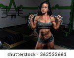 attractive woman with chain in... | Shutterstock . vector #362533661