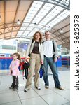 family with girl in airport | Shutterstock . vector #3625378