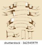 vector vintage ribbons big set. ... | Shutterstock .eps vector #362545979